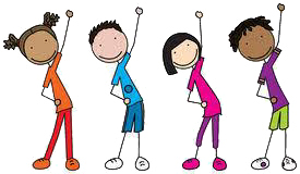 Clipart - Exercising Kids